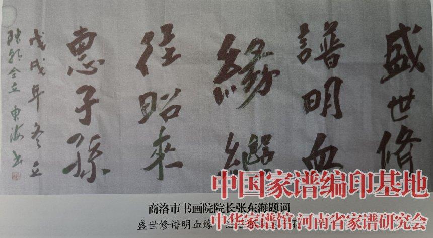 商洛市书画院院长张东海为陈氏族谱题词.jpg